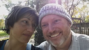 Also at the same nearby park, here is a photo of Beth and me together, taken by her phone camera