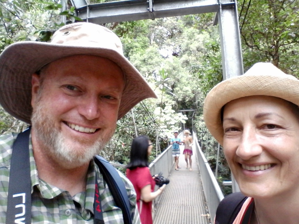 Mossman Gorge bridge selfie