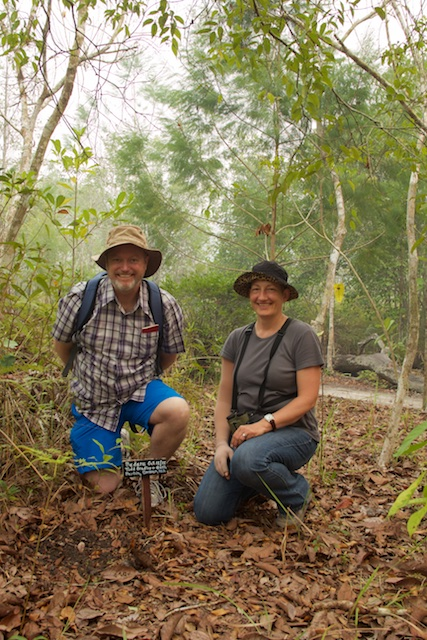Beth and Todd at Pondok Kerja (Kedan's cottage), Kalimantan, Oct 2015